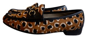 Gucci Limited Edition Animal Print Multi-Colored Calf Hair Flats