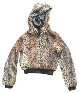 Divided by H&M Hooded Soft Leopard Jacket
