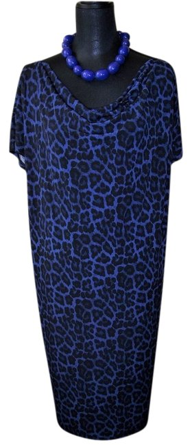 Preload https://img-static.tradesy.com/item/20823093/michael-michael-kors-black-and-blue-leopard-2x-mid-length-short-casual-dress-size-22-plus-2x-0-1-650-650.jpg