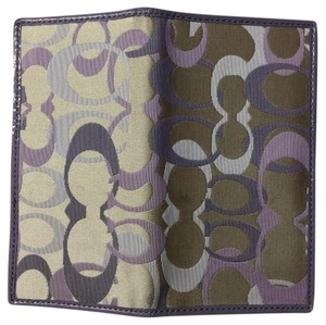 Coach coach checkbook wallet