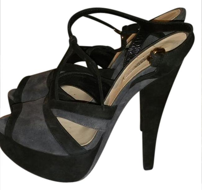 Item - Black/Grey Suede Sandals Size US 9.5 Regular (M, B)