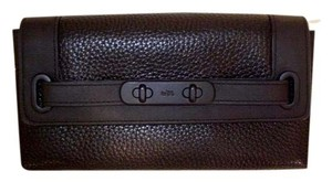 Coach Coach Black Leather Swagger Wallet