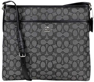 Coach Signature File Silvertone Hrdw Cross Body Bag