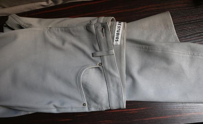 Acne Studios Leather Soft Exclusive Straight Leg Jeans