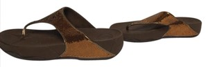 FitFlop Sequin New With Tag Metallic copper Sandals