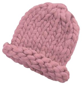 Other Finland Style Lovely and Warm Chic Chunky Big Yarn Knitted Pink Beanie