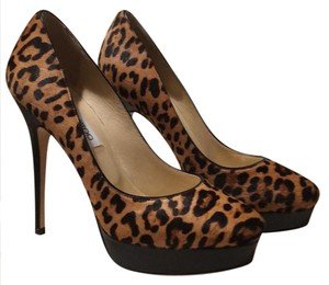 Jimmy Choo #animalprint #haircalf Camel & Black Platforms