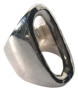 Selfridges London Cut Out Oval Ring in Sterling Silver