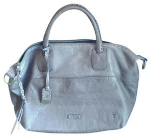 Frye Leather Satchel in Gray Brown