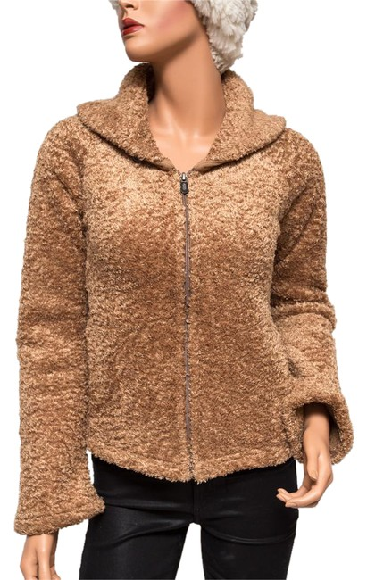 Preload https://item4.tradesy.com/images/patagonia-brown-curly-q-fleece-cardigan-size-4-s-20823563-0-1.jpg?width=400&height=650