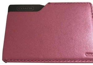 Coach leather compact mirror