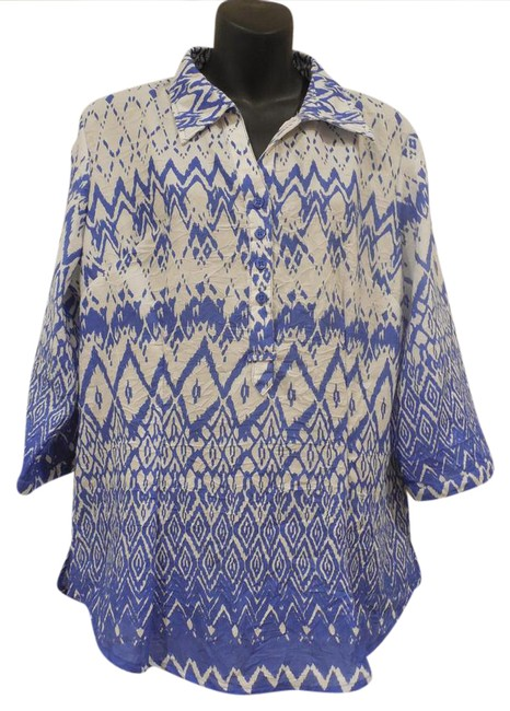Preload https://item3.tradesy.com/images/coral-bay-zig-zag-blouse-size-12-l-20823587-0-1.jpg?width=400&height=650
