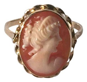 Other Victorian Shell Cameo 14k Yellow Gold Ring