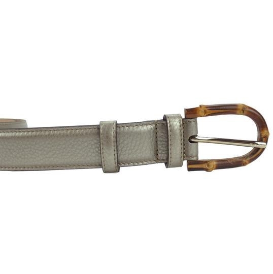Gucci GUCCI 322954 Women's Leather Belt with Bamboo Buckle 90-36