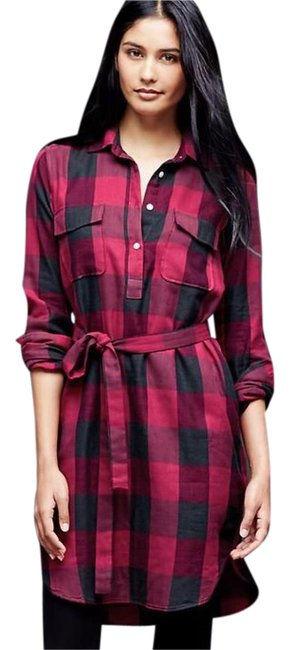 Preload https://item5.tradesy.com/images/gap-red-flannel-plaid-short-casual-dress-size-4-s-20823734-0-1.jpg?width=400&height=650