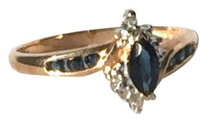Other Marquise Cut Sapphire And Diamond Ring in 14k Yellow Gold