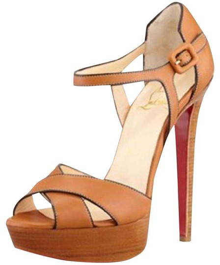 Preload https://item2.tradesy.com/images/christian-louboutin-brown-sporting-leather-buckle-ankle-strap-sandals-heels-platforms-size-us-10-20823761-0-1.jpg?width=440&height=440
