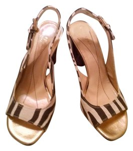 Kate Spade Brown and Ivory Sandals