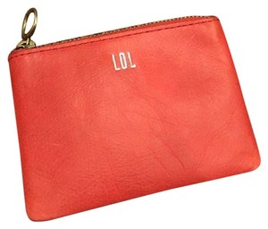 Madewell NWT Leather Pouch Wallet in Thai Chili
