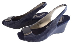 Anne Klein navy blue Wedges