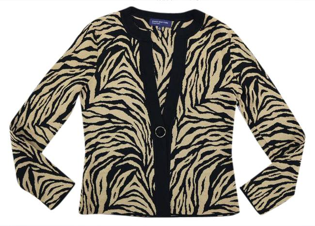 Preload https://img-static.tradesy.com/item/20823854/jones-new-york-gold-metallic-evening-animal-print-sweater-night-out-top-size-6-s-0-1-650-650.jpg