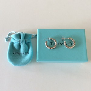 Tiffany & Co. Rope Hoop Earrings Sterling with 14kt Gold
