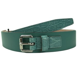 Gucci GUCCI 341747 Teal Leather Buckle Belt 105-42