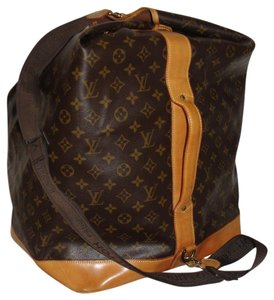 Louis Vuitton Sac-marine Keepall Bandouliere Duffle-bag Travel-luggage-carry Brown Travel Bag