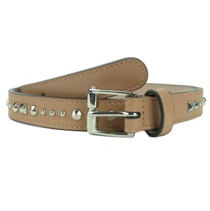 Gucci GUCCI 380561 Women's Camelia Studded Leather Belt 85-34