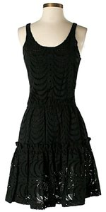 Cynthia Rowley short dress Black Eyelet Lace Ruffle Sleeveless on Tradesy