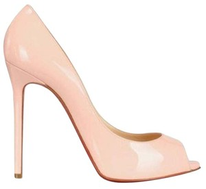 Christian Louboutin Heels Flo Patent Leather Hidden Platform Baby Pink Pumps