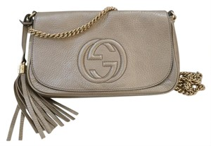 Gucci Soho Chain Leather Cross Body Bag