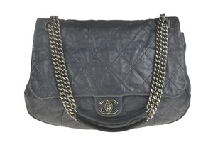 Chanel Dark Calfskin Shoulder Bag