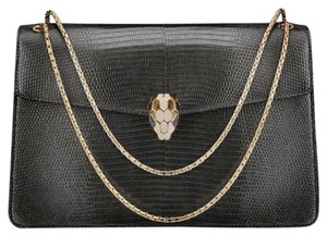 BVLGARI Lizard Serpenti Shoulder Bag