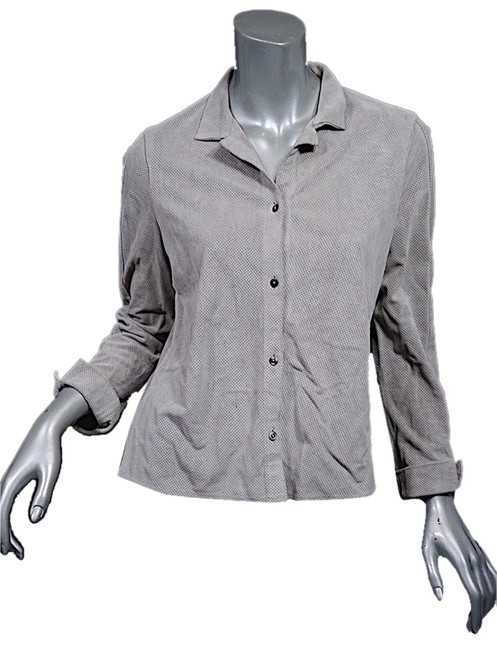 Preload https://item5.tradesy.com/images/light-gray-perforated-suede-button-down-shirtjacket-s-blouse-size-4-s-2082514-0-0.jpg?width=400&height=650