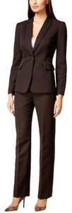 Tahari Tahari Asl Brown Pin-stripe Pant Suit Brown Size 8