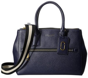 Marc Jacobs Gotham City Ew Weekender Italian Leather Tote in Midnight Blue