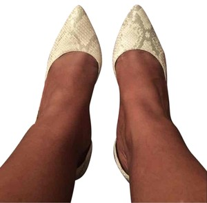 Brash white and silver Pumps