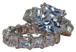 Other 4ct CZ engagement ring/eternity band set