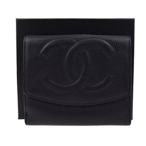 Chanel caviar CC trifold lambskin leather small wallet