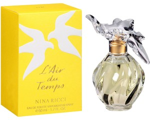 Nina Ricci L'air Du Temps By Nina Ricci Eau De Toilette Spray W/bird Cap 3.4 Oz