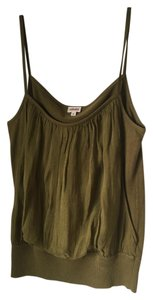 Kenzo Silk Army Sheer Crop-top Top Green