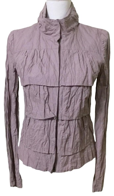 Item - Purple Small Light Mauve Tiered Crinkle Cotton Jacket Size 4 (S)