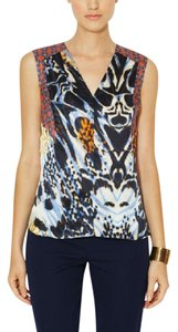 Rachel Roy Silk Print Sleeveless Printblock Top