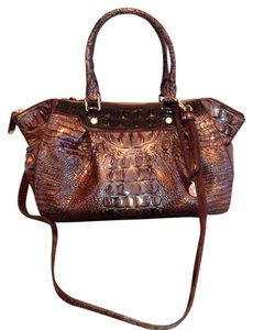 Brahmin Satchel in Fall Tortoise