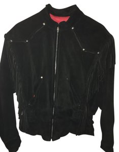 Harely Davidson Fringe Suede Leather Vintage Black Jacket