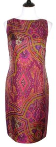 Lauren Ralph Lauren Paisley Silk Sleeveless Shift Dress