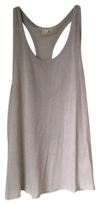 Helmut Lang Scoop Neck Racerback Tonal Stiching Layered Opaque Top Grey