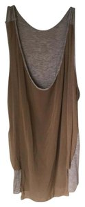 VPL Silk Draped Layered Raw Cool Top Grey and Light Brown