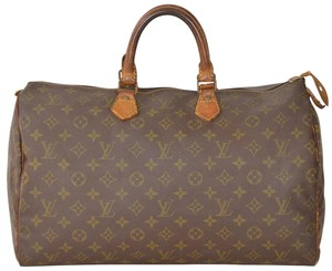 Louis Vuitton Monogram Speedy Boston Speedy 40 Satchel in Brown